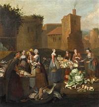 gemüse- und fischhändler by pieter angillis