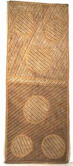 abstrakte darstellung. symbolisiert das spatenholz (barraka) zum graben des wasserloches by terry (maningrida) ngamandarra