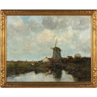 old mill - voorburg, holland by charles paul gruppe