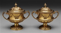 covered bowls (pair) by ridley hayes and george nathan