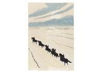 cavaliers dans les dunes la chasse a course set of 2 by andré brasilier