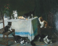 kittens causing mischief by maurice hubin