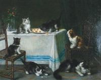 kittens causing mischief by maurice hubin