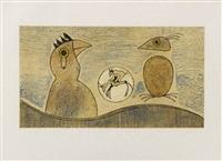 deux oiseaux (zwei vögel) by max ernst