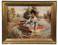woman in a skiff by william bunting