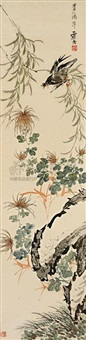 bird and flower by sesshu toyo