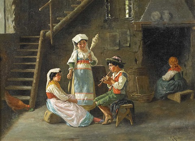 italienisches interieur mit kindern by guilio amodio