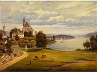 die kirche am see by joseph langl