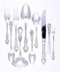 flatware in violet pattern (set of 67) by r. wallace & sons (co.)