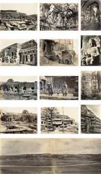 views of yungang grottoes (285 works) by yamamoto sanshichirou