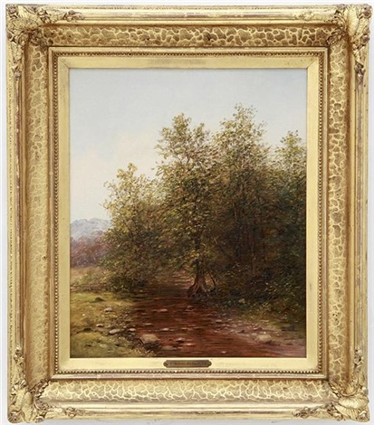 southern landscape with stream by thomas addison richards