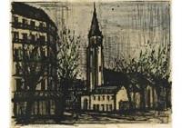 saint-germain-des-prés (from album paris) by bernard buffet