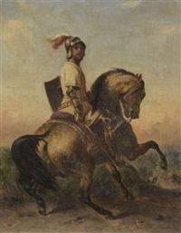 cavalier médiéval en armure by françois emile de lansac