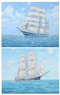 schooners - outward (+ homeward bound; 2 works) by arthur s. allis