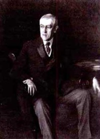 portrait of president woodrow wilson (after john singer sargent) by timothy cole