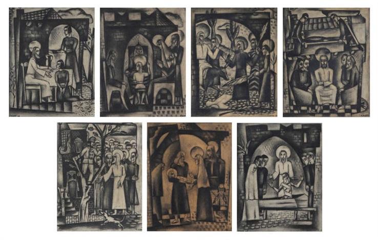 sept scènes du nouveau testament 7 works by reimond kimpe
