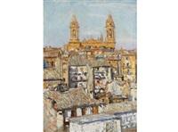 vista de la catedral de pamplona by jesús basiano