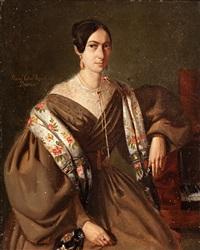retrato femenino by manuel cabral aguado y bejarano