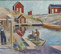 vid sjöbodarna by gunnar torhamn