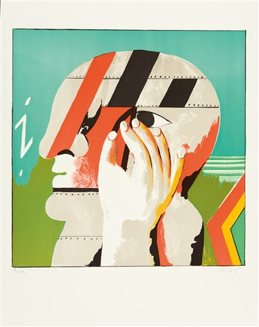 i-kopf (+ another; 2 works) by horst antes