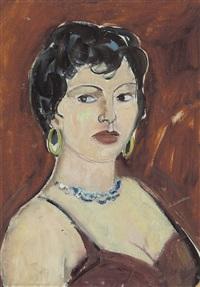 ritratto di donna con collana e orecchini by giovanni stradone