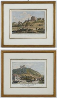 vues de châteaux suisses (set of 14) by alexis nicolas perignon the elder
