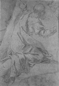 kneeling robed man by alessandro tiarini