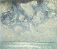 havbillede i gråvejr (sea view in cloudy weather) by knud agger