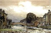 a village bridge by arthur reginald smith