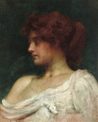 redheaded woman (study) by philip hermogenes calderon