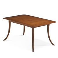 saber-leg dining table (no. 4309) by t.h. robsjohn-gibbings