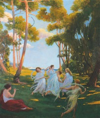 muses dancing by p. jacobson-hood