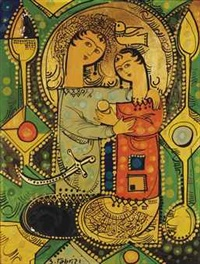 a loving couple by sadegh tabrizi