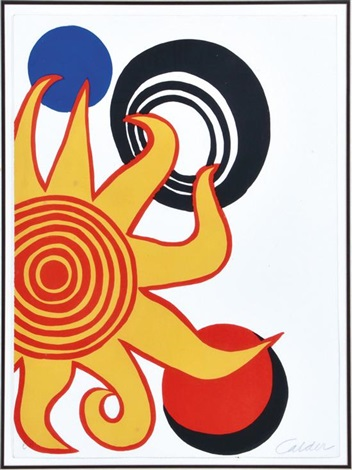 la soleil and planets by alexander calder