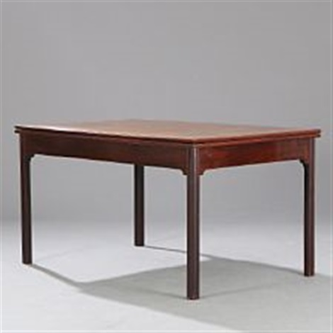 Rectangular Dining Table With Pull Out Leaves By Kaare Klint