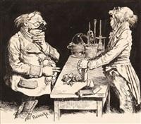 gefährliche experimente - der gruß der kuh (2 works) by rené reinicke