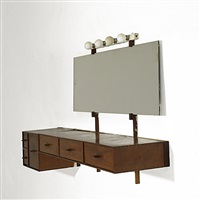 wall-mounting console/vanity by philip cortelyou johnson