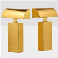 pair of sculpture table lamps by karl springer