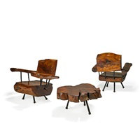 table and lounge chairs (3 works) by sabena