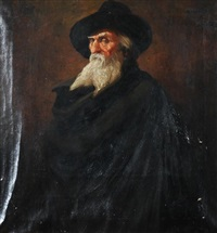 portrait of old man with beard by john hassall