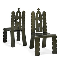 gothic revival chairs (pair) by robert venturi