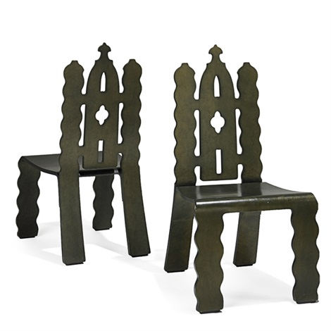 gothic revival chairs pair by robert venturi