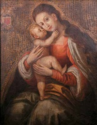 madonna con bambino e stemma nobiliare by portuguese school (17)