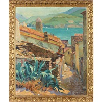 vue de collioure by abel george warshawsky