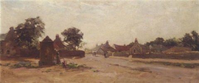 a village scene by rosie j morison