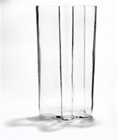 A Very Large Mouth Blown Clear Glass Vase By Alvar Aalto On Artnet