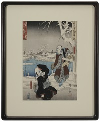 the loyal ones in snow by ando hiroshige