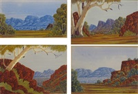 views in the kimberleys (4 works) by clem abbott