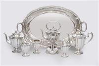 coffee and tea service with tray (set of 7) by maciel
