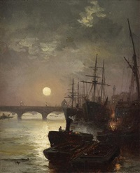 harbor at dusk by robert ernest roe